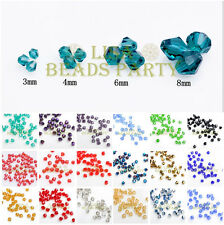 Wholesale Bicone Faceted Loose Spacer Crystal Glass Beads 3mm 4mm 6mm 8mm Lots