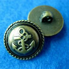 10 Sewing Buttons Craft Round Anchor Sea Shank DIY Vintags Like Lots Accessory C