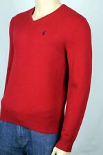 Polo Ralph Lauren Red Lambs Wool Sweater Navy Blue Pony NWT