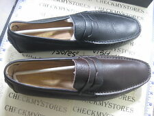 NIB NEW Asher Green FLAGER 045024 045024 LEAHTER LOAFER SLIP ON SHOES BLK/BRWN