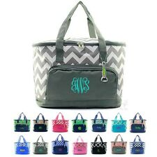 """Personalized Monogram 24"""" Insulated Cooler Beach Picnic Large Utility Tote Bag"""