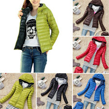 Women Winter Slim Down Coat Outwear Hooded Short Parka Warm Overcoat Jacket