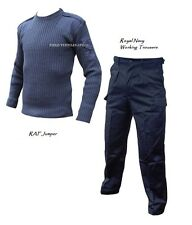 Royal Navy Working TROUSERS + RAF PULLOVER/JUMPER - British Army - Grade 1