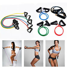 Resistance Band Set Yoga Pilates Abs Exercise Fitness Tube Workout Bands