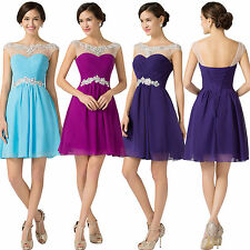 Teens Formal Prom Short Dress Evening Pageant Party Bridesmaid Dress Size 4-16+