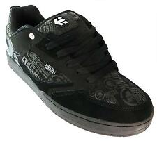 Etnies Metal Mulisha Cartel Mens Back & White Lace Up Cupsole Skate Trainers New