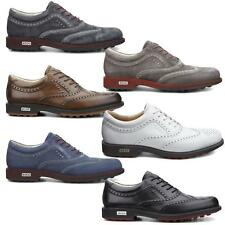 ECCO Tour Hybrid Wingtip 2016 Spikeless Waterproof - Leather Mens Golf Shoes