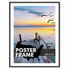 8 x 12 Custom Poster Picture Frame 8x12 - Select Profile, Color, Lens, Backing