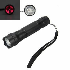 IR 940nm Infrared Red Radiation LED Flashlight Torch Night Vision+18650+Charger