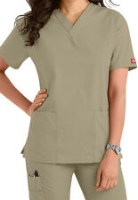 Dickies Medical Scrub EDS Signature Khaki Two Pocket Top Sz XS-XXL NWT