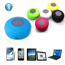 Waterproof Wireless Bluetooth Handsfree Mic Suction Mini Speaker Bath Shower Car
