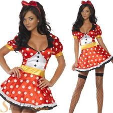 Ladies Fever Miss Mouse Sexy Minnie Book Week Adult Fancy Dress Costume Outfit