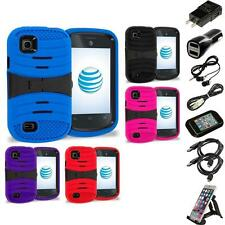 For ZTE Avail 2 Z992 Prelude AT&T Hybrid Heavy Duty Armor Case Stand Accessories