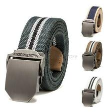 Men Boy Casual Waist Band Fashion Buckle Waistband Handmade Military Canvas Belt