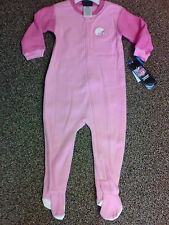 New NFL Cleveland Browns kids footed pajamas 12m-24m NWT Girls Two-Tone Pink