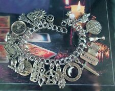 Magick Spells Charm Bracelet Psychic Crystal Ball Goddess Blessed Be Earth Wicca