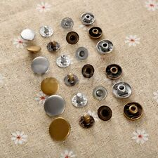 50Pcs Metal Snap Fasteners Poppers Press Stud Sewing Leather Button DIY Fashion