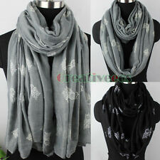 Women's Fashion Scarves Owls Print Soft Long Scarf Wrap Shawl/Infinity Scarf New