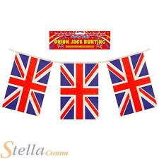Union Jack Bunting 11 Flags 12ft Double Sided Great Britain Sports Party Fetes