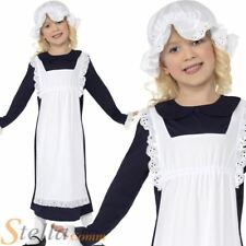 Girls Victorian Poor Girl Maid Kids Book Day Week Fancy Dress Costume Kids Child
