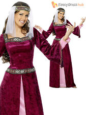 Ladies Maid Marion Costume Adults Robin Hood Fancy Dress Medieval Tudor Queen