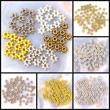 5x3mm Pewter Flower Spacer Beads 70pcs, Silver/Gold/Brass,Gunmetal, pick your co