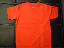 3 NEW SHAKA KIDS PLAIN V-NECK T-SHIRT RED BLANK S-XL 3PC