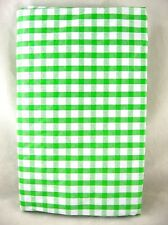 Assorted Colors Sizes Green Red Blue Check Zipper Umbrella Hole Vinyl Tablecloth