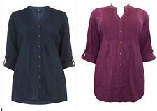 EX Evans Cotton Beaded Navy or Purple Tunic Blouse Top 14 16 18 20 22 24 26 28