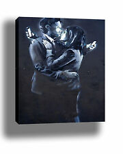 BANKSY MOBILE LOVERS HIGH QUALITY PORTRAIT GRAFFITI STREET ART CANVAS PRINT
