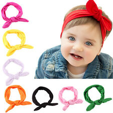 Fashion Baby Kids Newborn Headbands Stretch Rabbit Bow Ear Turban Knot Hair Band