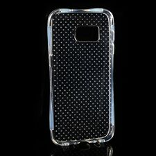 Slim Dotted Crystal Clear Soft TPU Rubber Back Skin Cover Case For Cell Phone