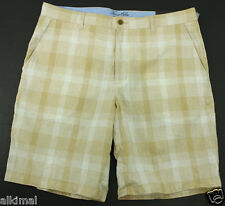 NEW MENS TASSO ELBA ISLAND FLAT FRONT LINEN BLEND TWINE COMBO CASUAL SHORTS 36