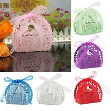 20x Hollow Out Laser Cut Candy Box Wedding Baby Shower Party Favor Bag w/ Ribbon