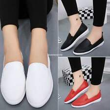 Korean Fashion Women Casual Flat Shoes Solid Loafers Slip On Flats Round Toe AU