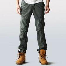 Men's straight leg loose overalls cargo outdoor casual pants work trousers