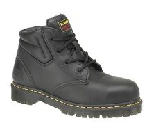 Dr. Martens Icon 7B09 Black Safety Work Boots with Steel Toe Cap