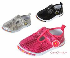 New Baby Toddler Girls Dress Shoes Flats Sequins Princess Bow Mary Jane Tennis
