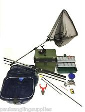 Complete Starter Coarse Float Fishing Kit Set .Okuma 10ft Rod, Reel, Box ,Tackle