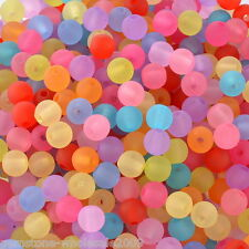 """Wholesale Lots W09 Acrylic Spacer Beads Frosted Round Ball Mixed 6mm(2/8"""")Dia."""