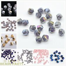 50pcs 6mm Faceted Crystal Glass Charm Helix/Twist Finding Loose Spacer Beads New