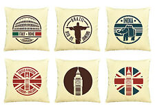 Vietsbay Famous Cities  Printed  Decorative Pillows Cover Cushion Case VPLC