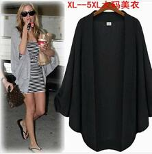 UK lady Shawl open Cape Poncho Scarf jumper tops jacket coat 3 Colors plus size