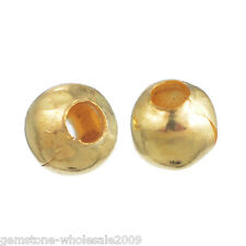 Wholesale Lots Gold Plated Smooth Ball Spacer Beads 3mm Dia