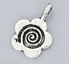 Gift Wholesale Silver Tone Flower Glue on Bail 15x11mm