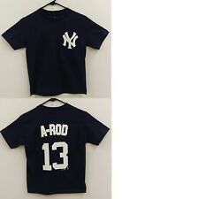 New York Yankees (A-Rod) Alex Rodriguez Navy Youth Name and Number T-Shirt