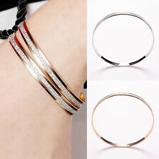 Women Fashion Bangle Wristband Bracelet Cuff Bling Lady Gift Bracelets Bangle EF