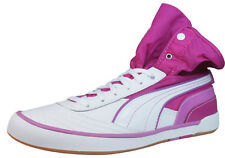 Puma Nouli Womens Leather Sneakers / Shoes - White & Pink 35006003