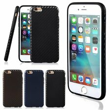 Thin Carbon Fiber Soft TPU Protective Back Case Cover For iPhone 6/6S Plus 5.5""