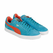 Puma Suede Classic + Mens Blue Suede Lace Up Trainers Shoes